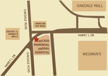 Dickin Memorial Animal Hospital Map